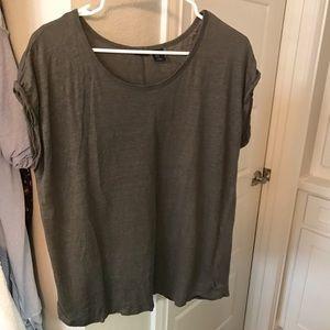 Tahari short sleeve linen shirt